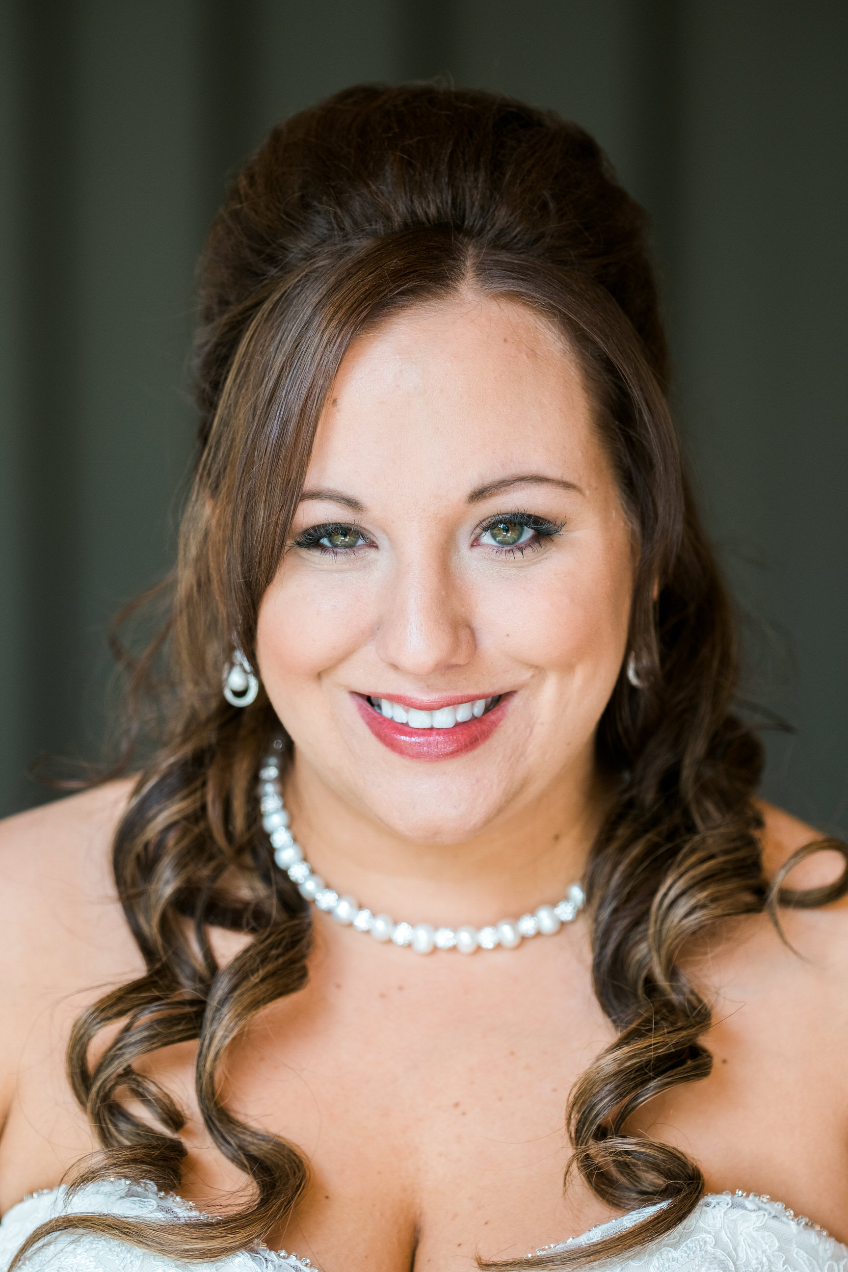 close up bride portrait at Grand View Lodge wedding
