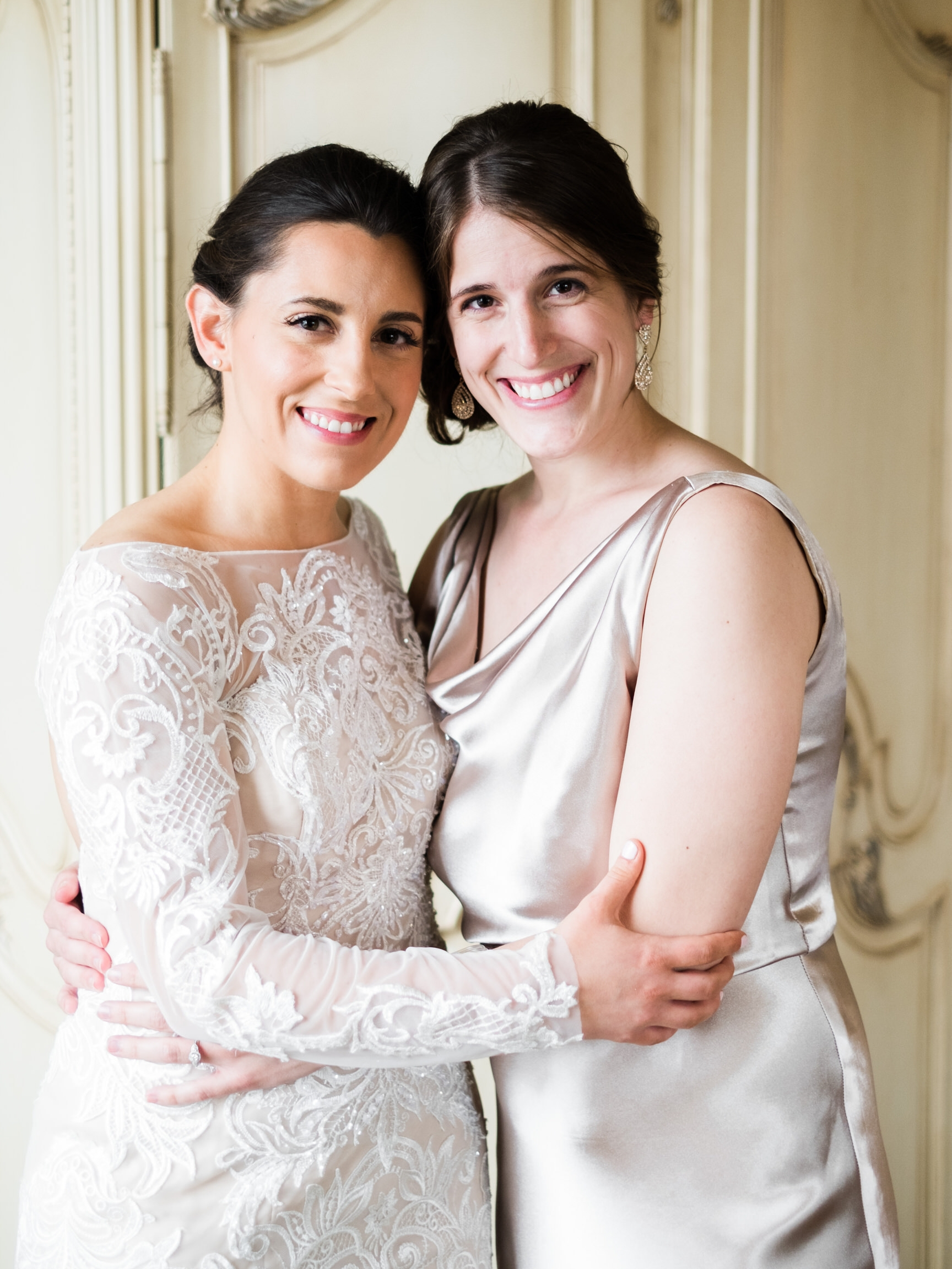Bride and Maid of Honor Portraits at the Saint Paul Hotel