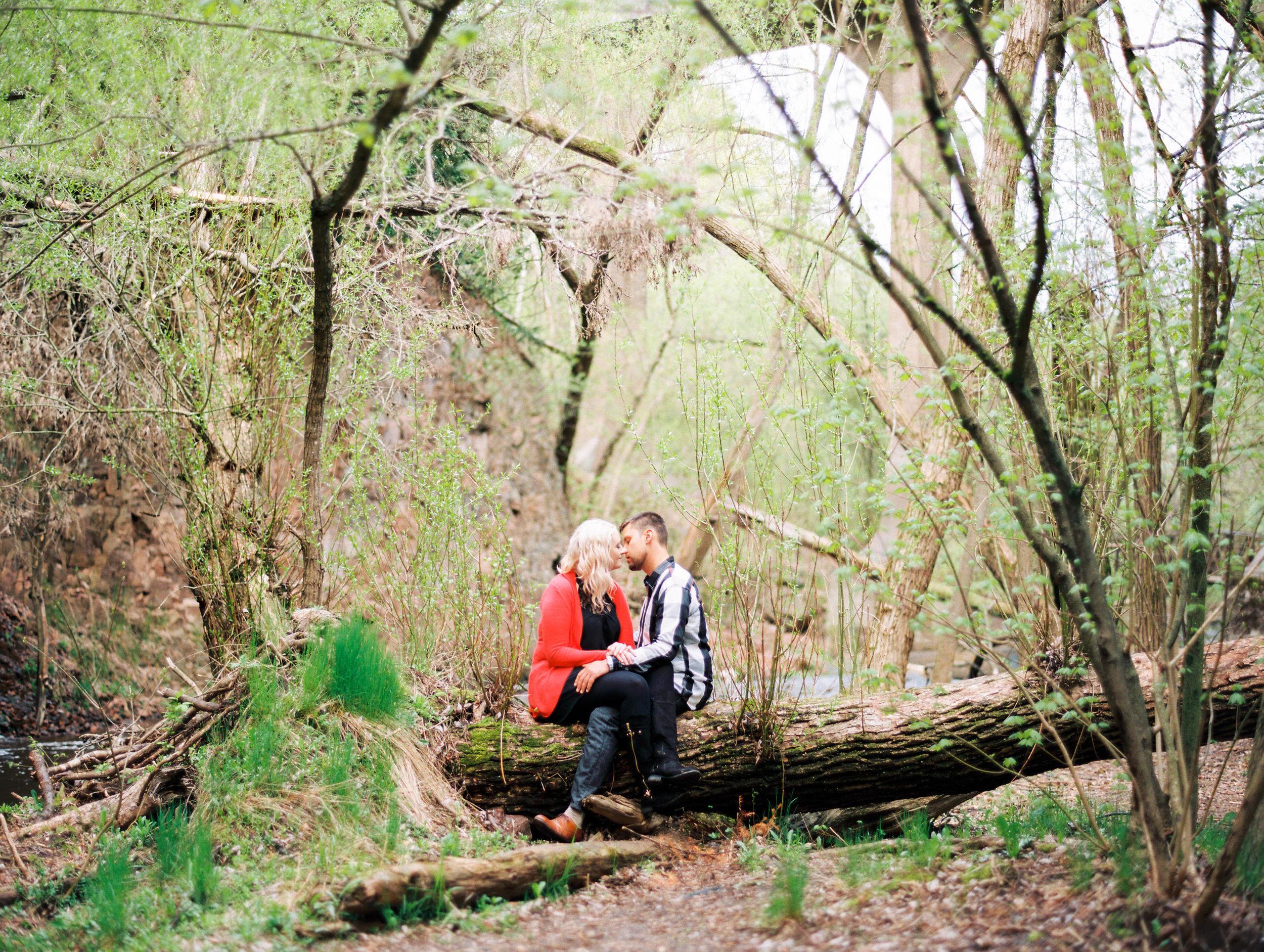 Duluth Film Photographer at Tischer Creek Engagement