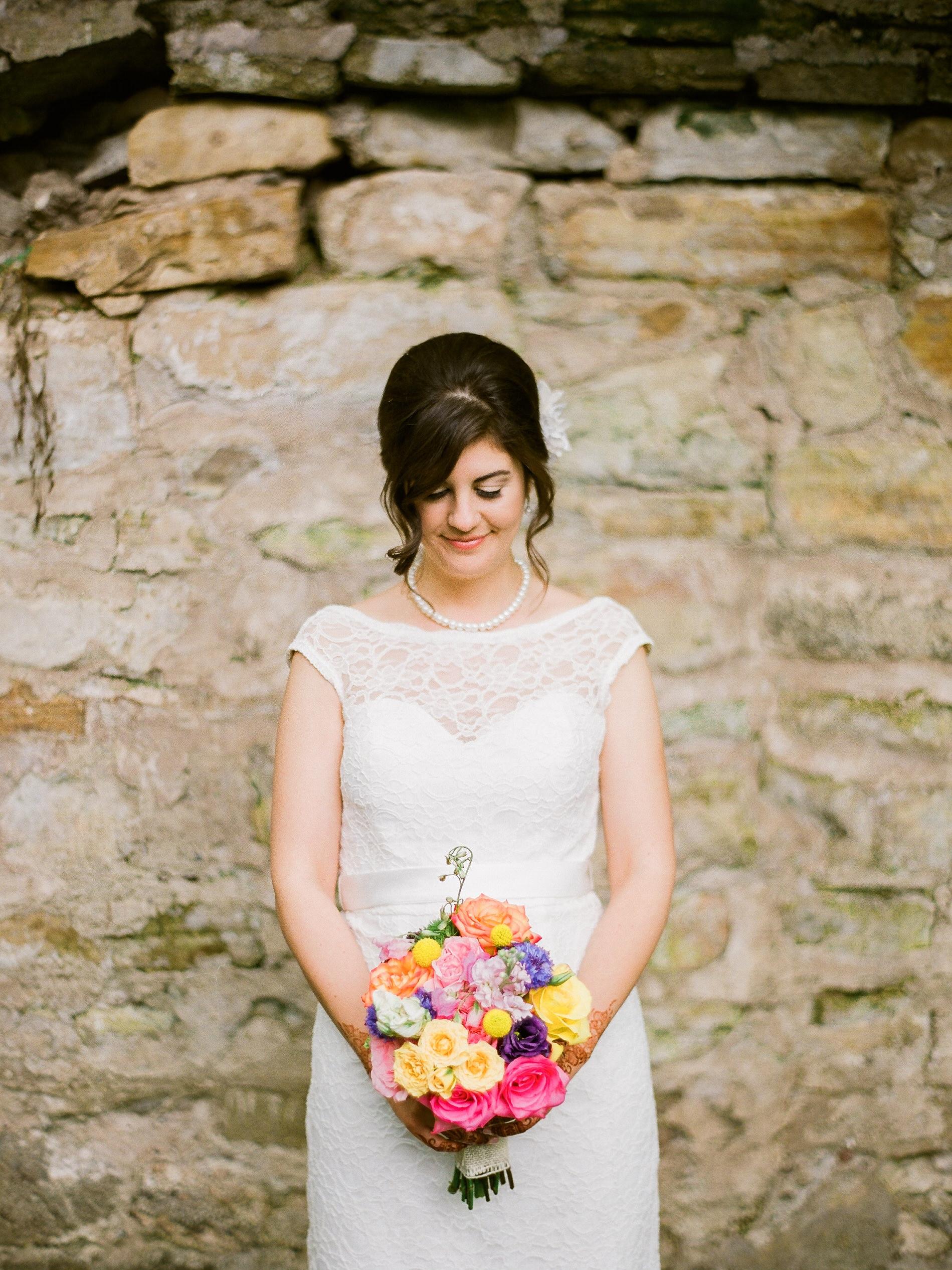 Bloom Lake Barn Northern MN Wedding bride portrait