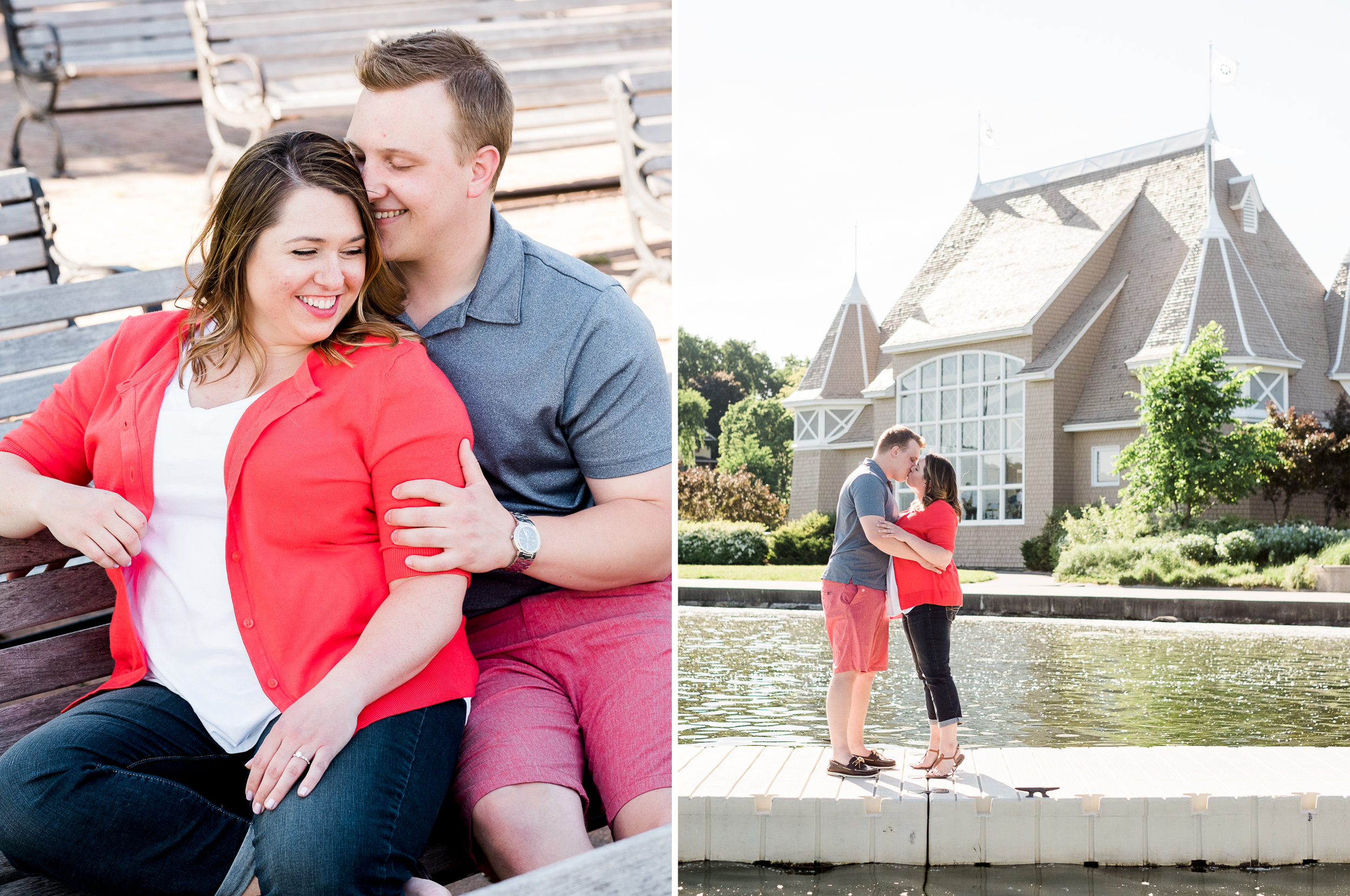 Lake Harriet engagement session in Minneapolis