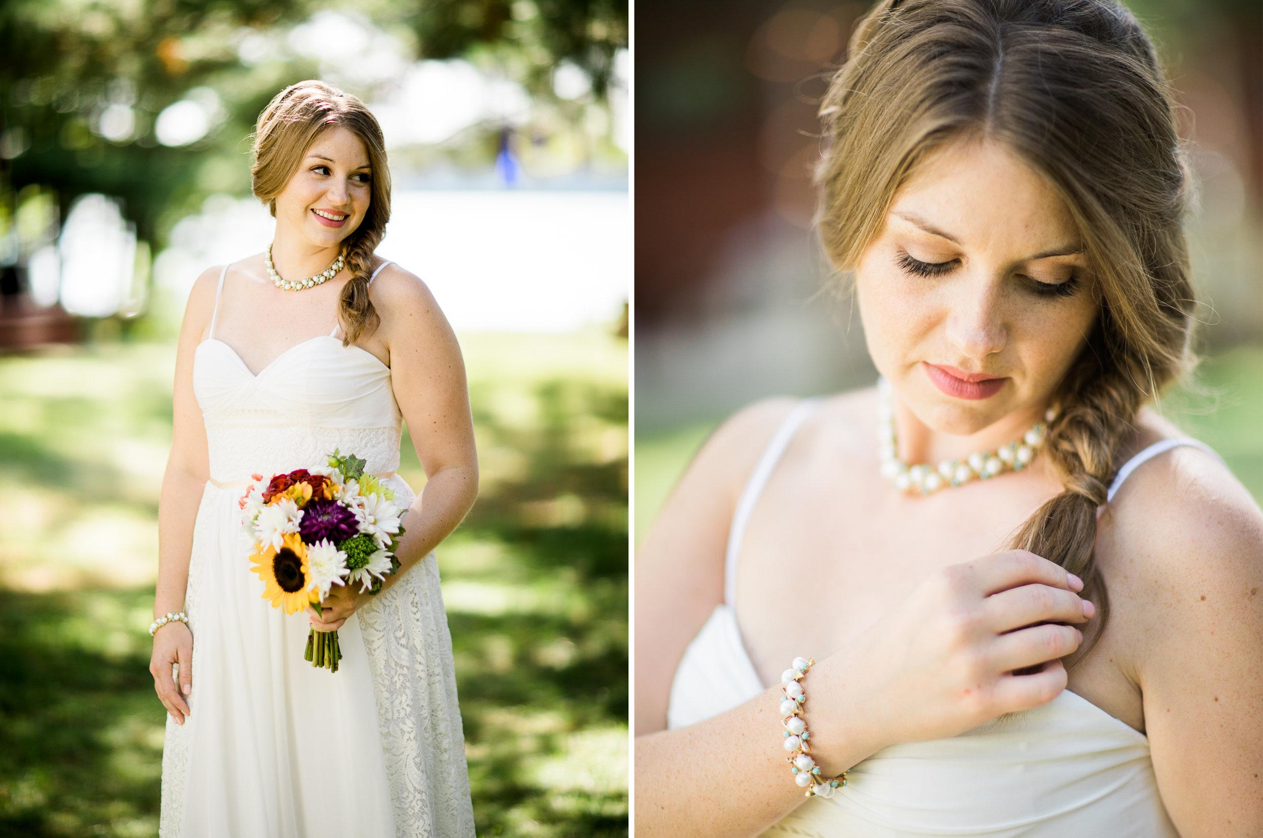 Bride destination wedding portraits at her Northern MN Cabin
