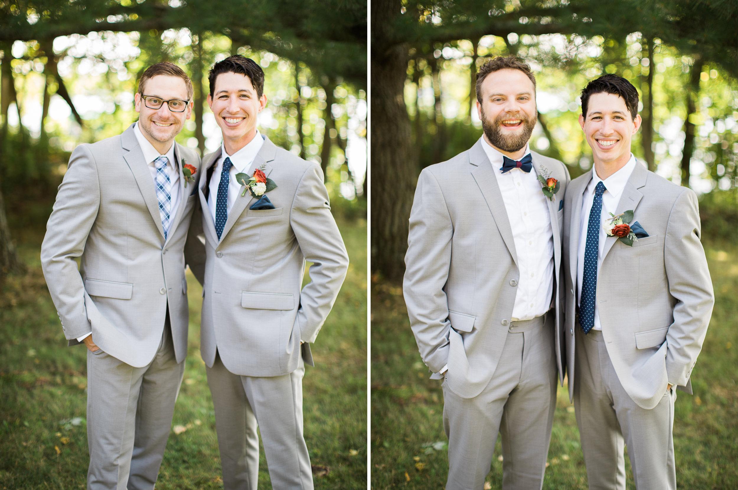 Groom portraits for his Northern MN Lakeside wedding.