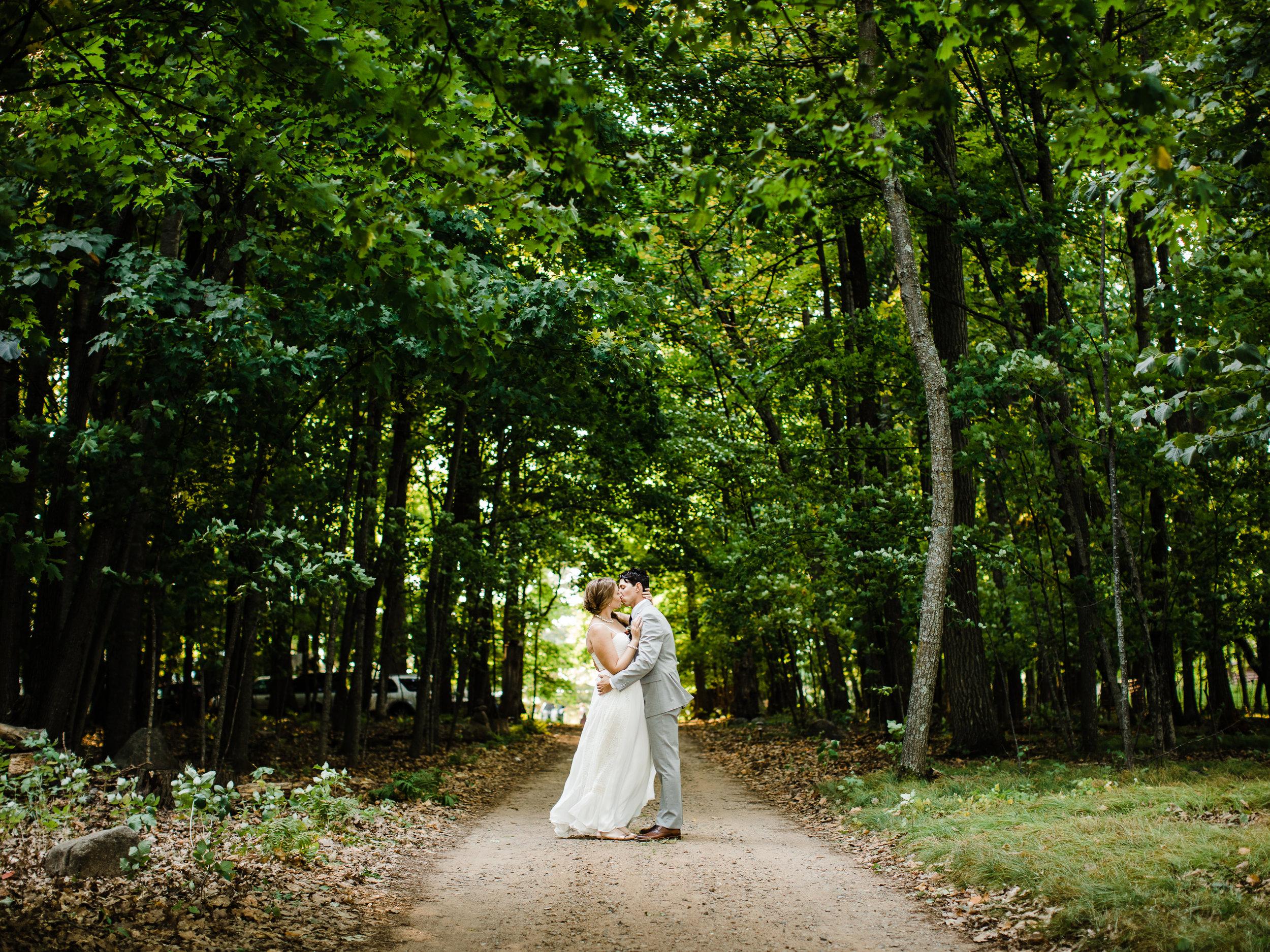 Lakeside destination wedding portraits in Northern Minnesota