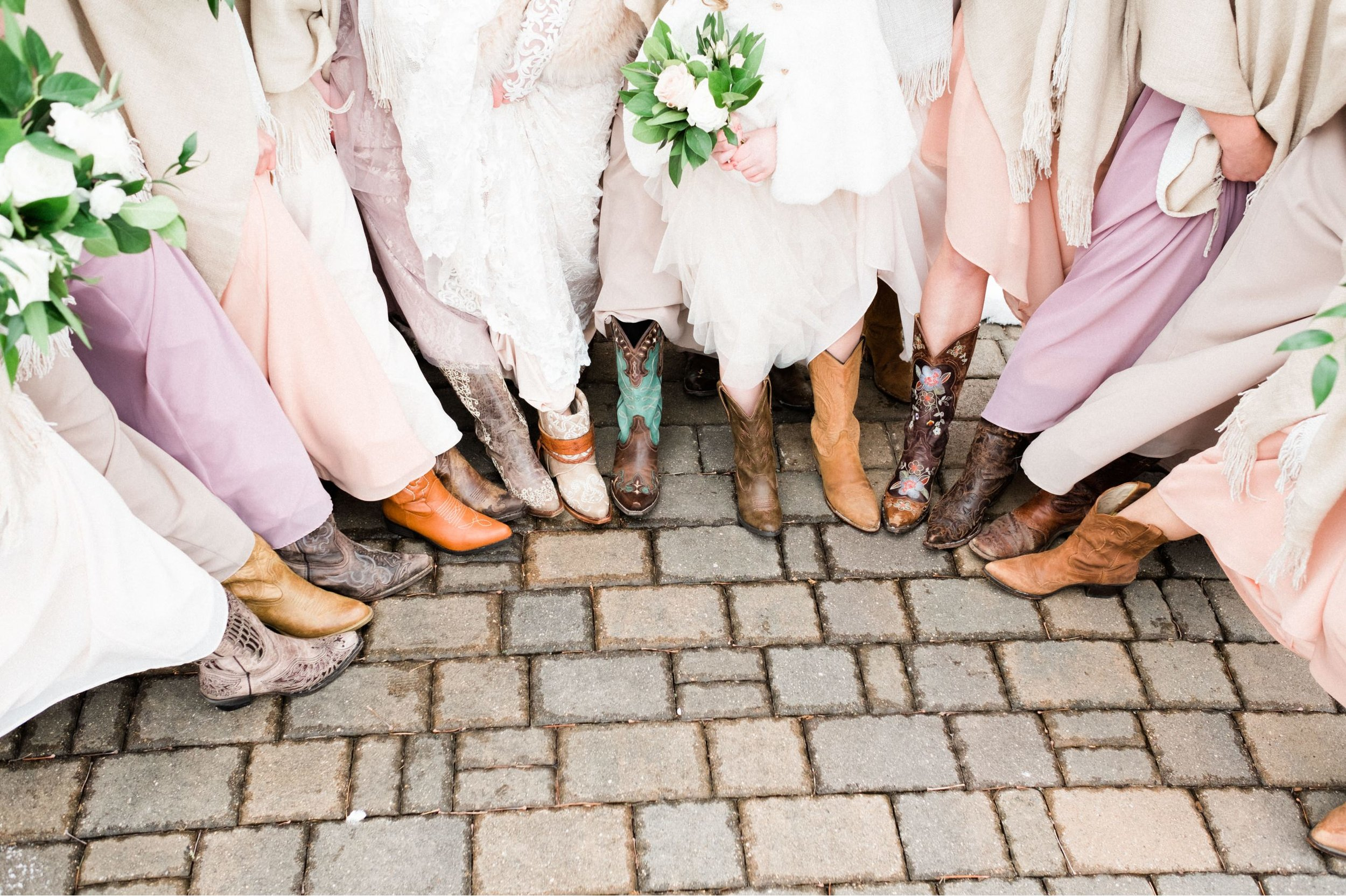 Wedding party portraits at Pine Peaks Event Center in Northern,