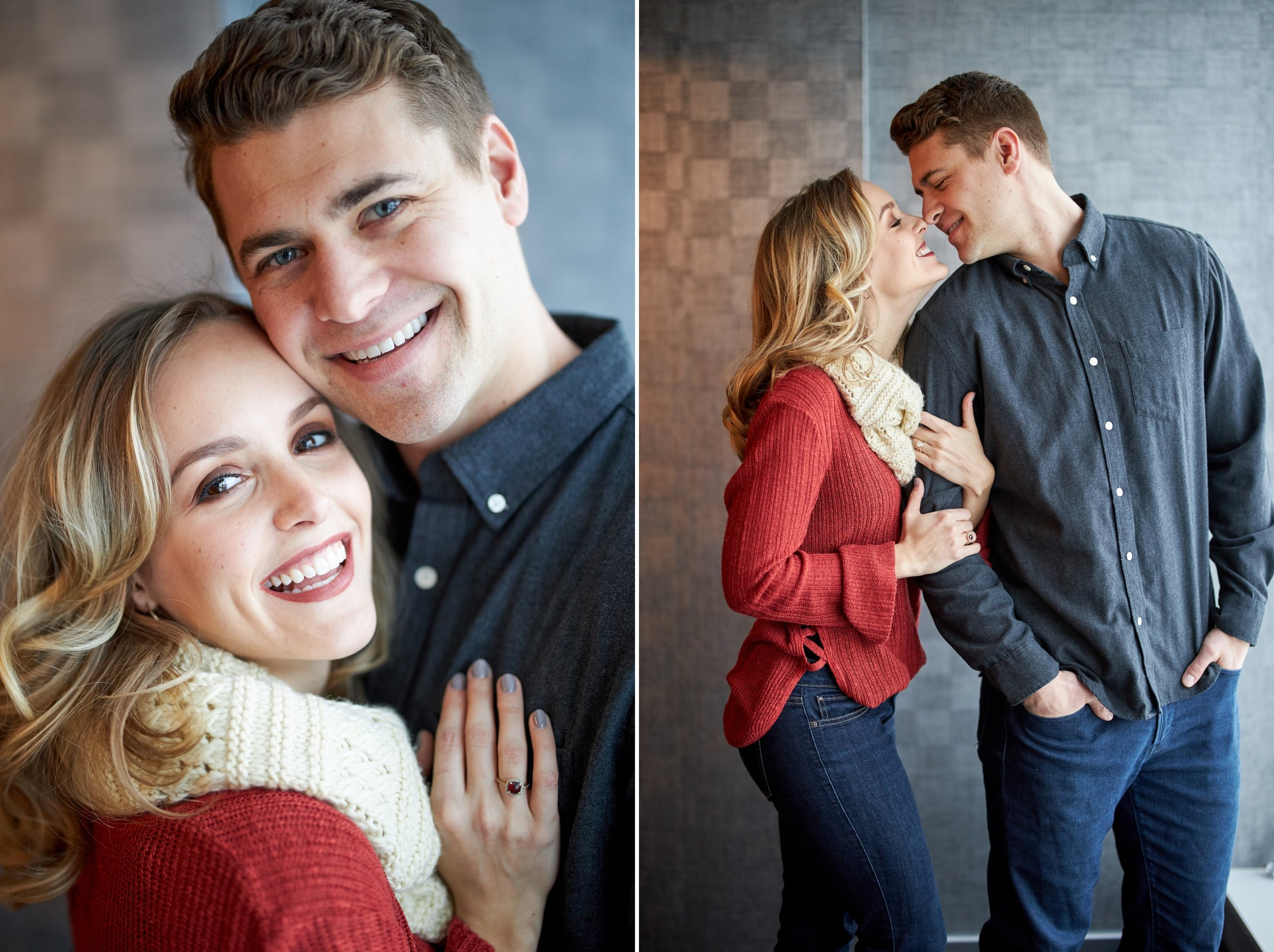 Duluth MN Winter Engagement Session