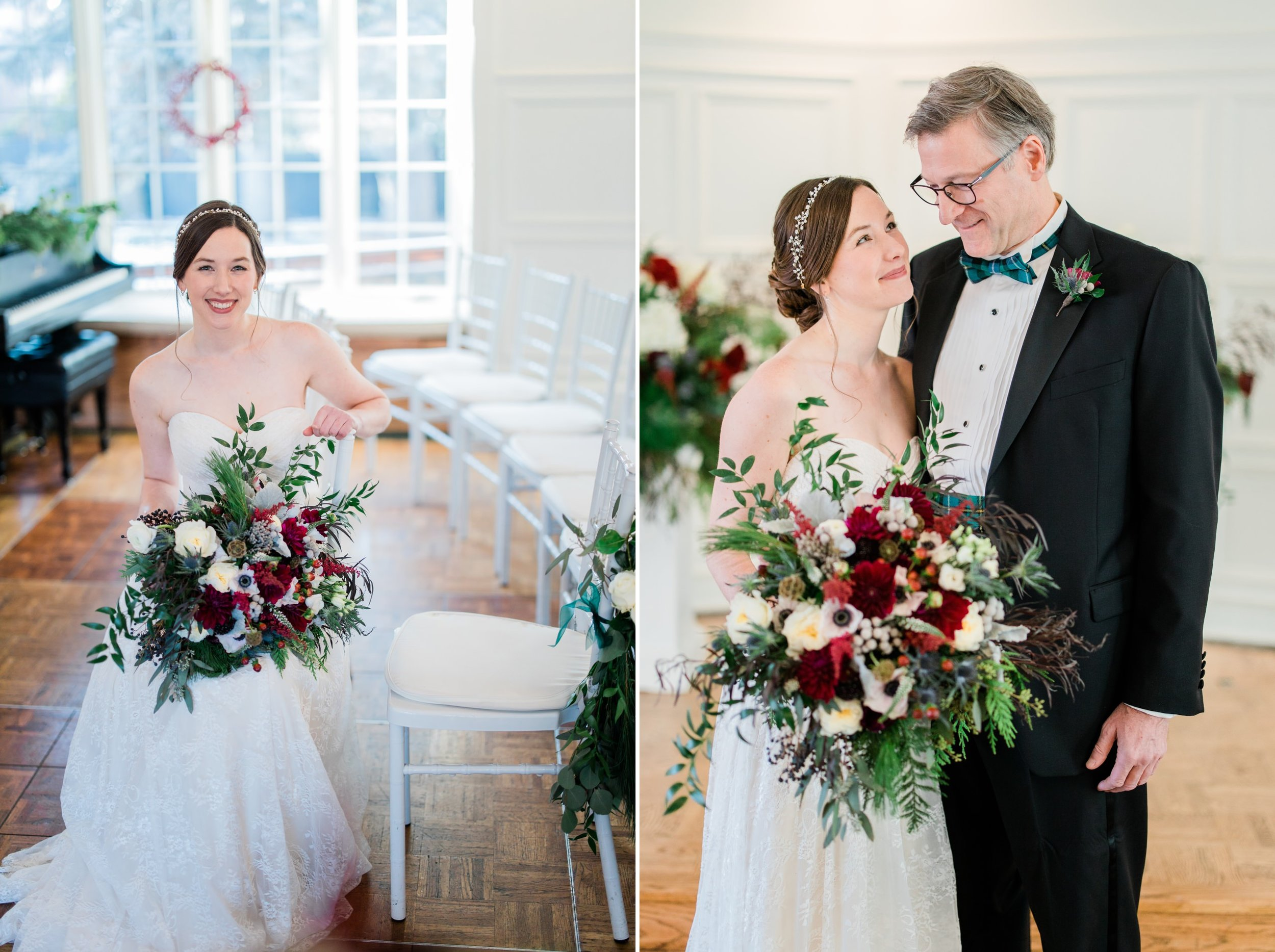 Scottish Winter Wedding at the Saint Paul College Club