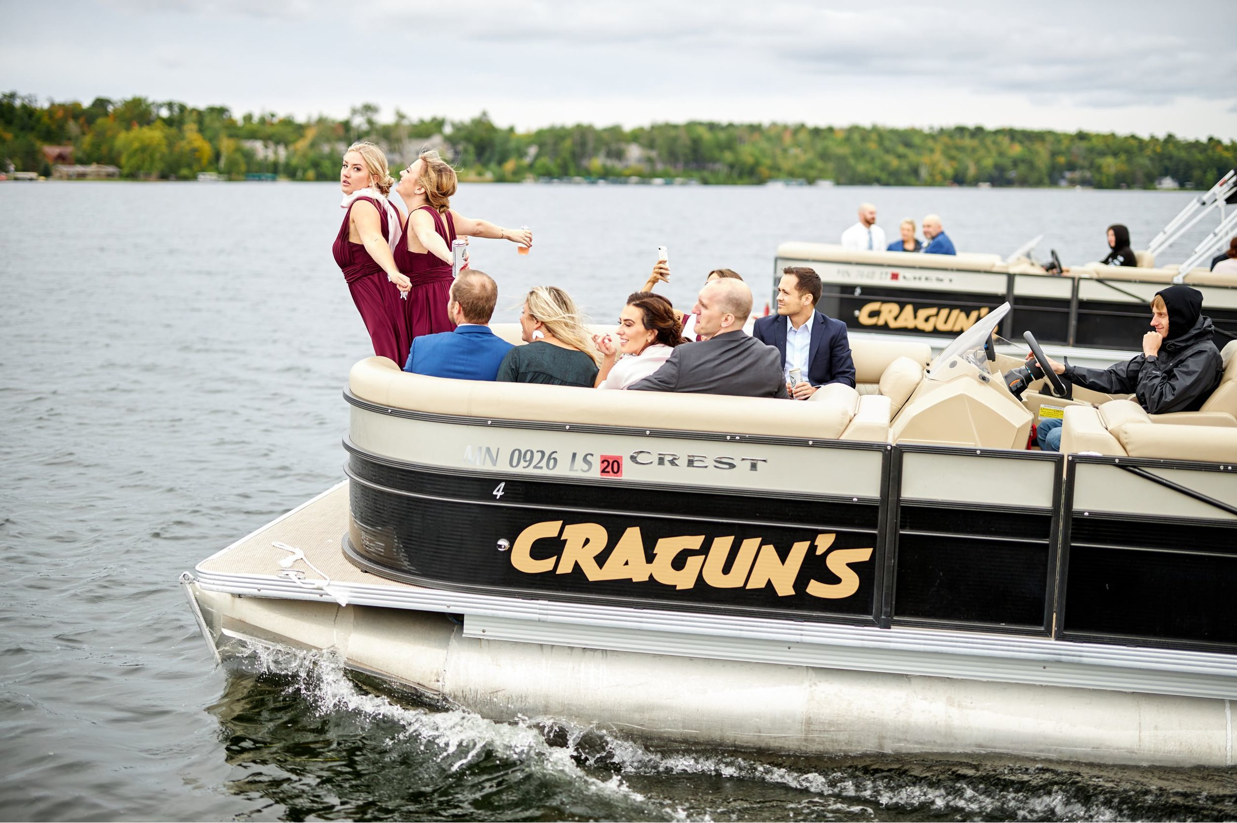 Craguns On Gull Lakes Wedding In Summer