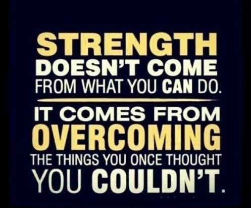 Believe in Yourself--You can overcome!!