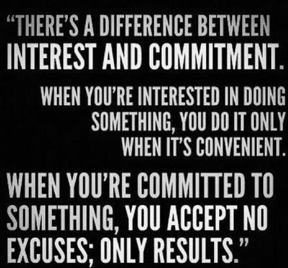 Be committed to your self improvement-life is short and father time is relentless!