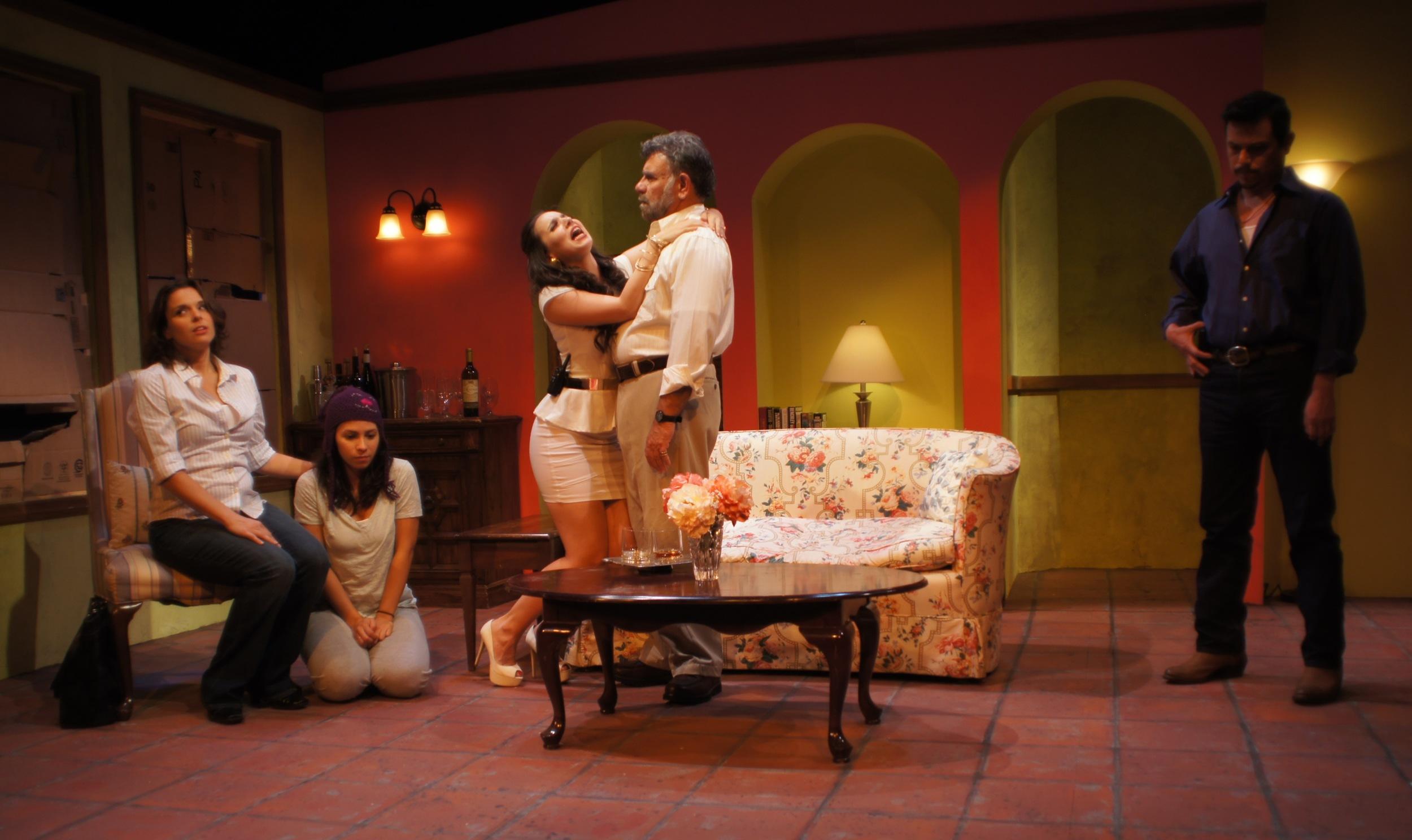 The full cast! From left: Vivia Font, Christina Nieves, Annie Dow, Felipe Gorostiza, and Thomas Nieto.