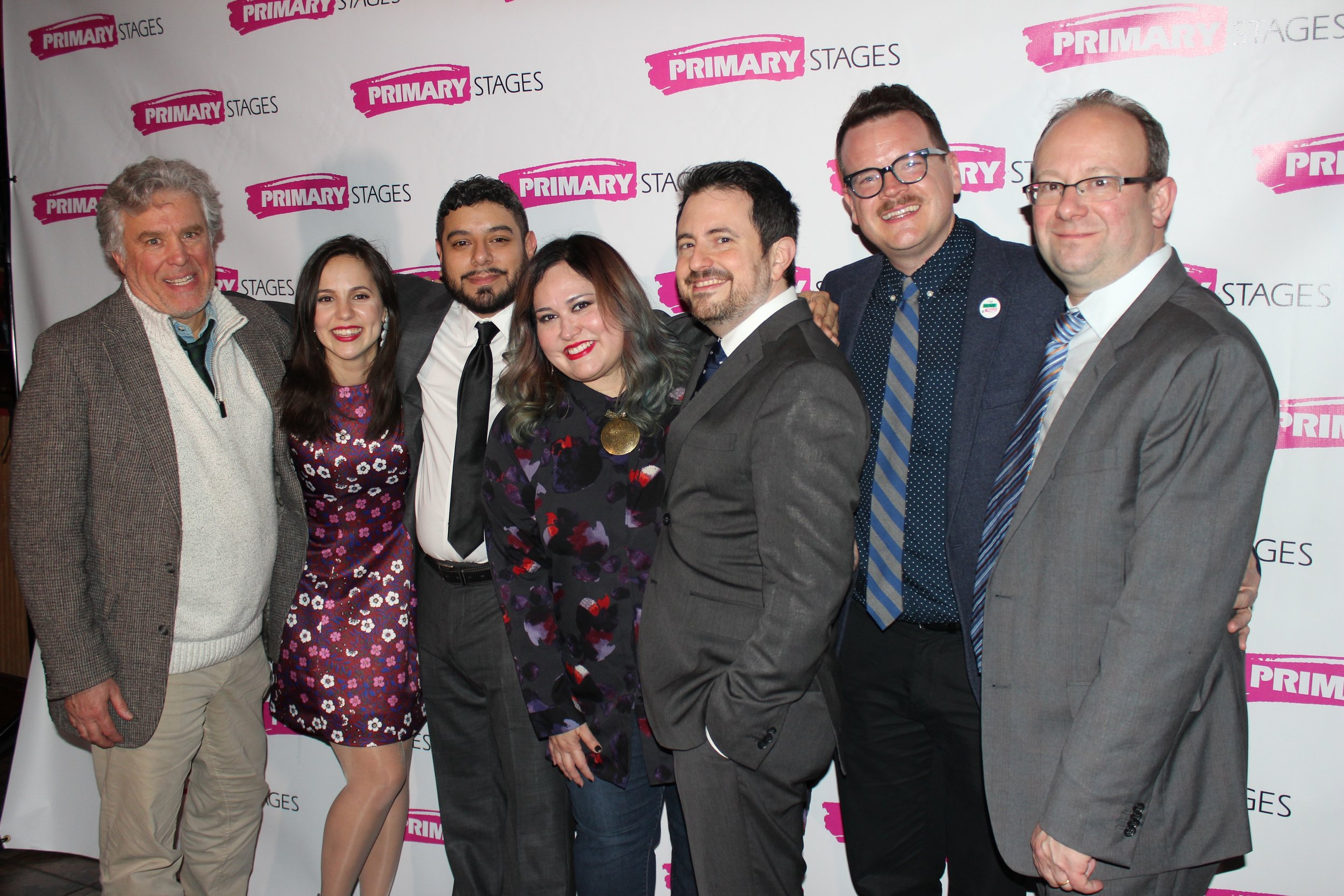 From Left: Casey Childs, Annie Dow, Eddie Martinez, Tanya Saracho, Jerry Ruiz, Shane D. Hudson, and Andrew Lenyse. Photo Credit: Kristi Long