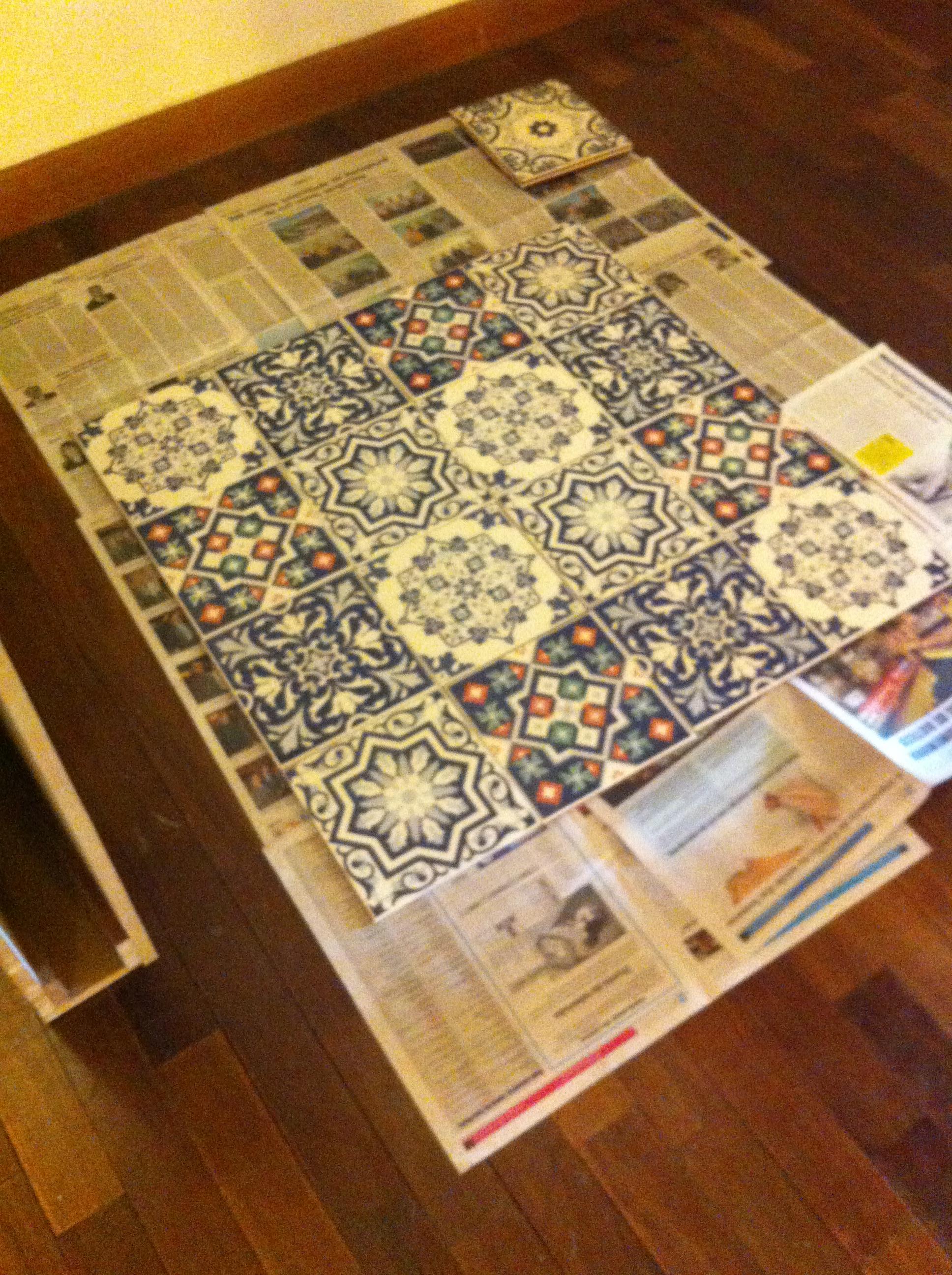 Montagem do padrão do azulejo - Foto: Madi Arquitetura e Design