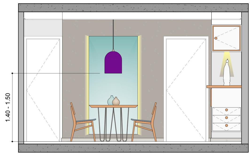 Altura para instalação de Pendentes em Mesa de Jantar  Imagem: Arquivo Pessoal