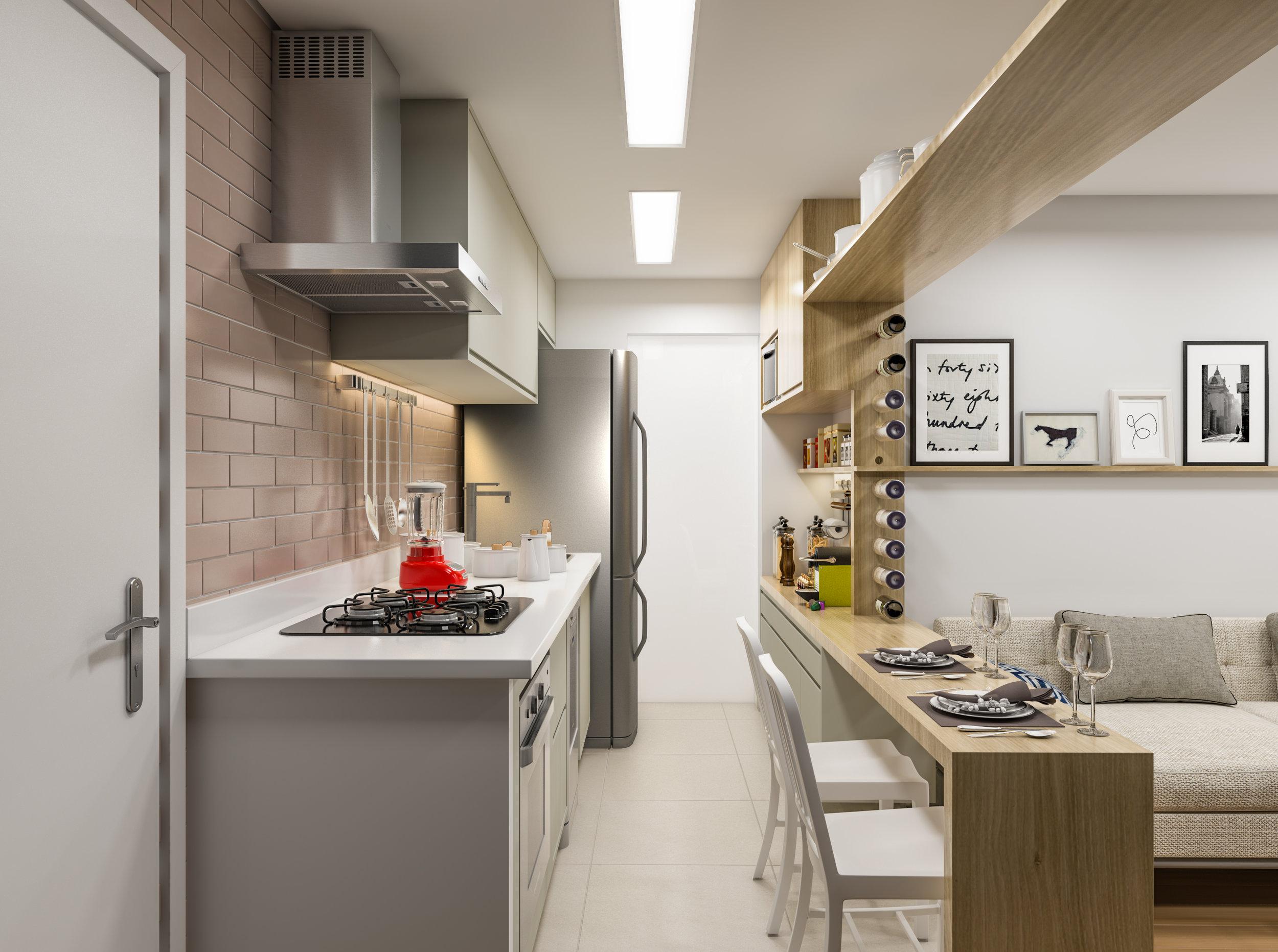 Cozinha  Apto Av. Suzana - Vila Gumercindo - São Paulo / SP - 90 m2  Projeto: Madi Arquitetura & Design  Imagem: Érica Alfieri