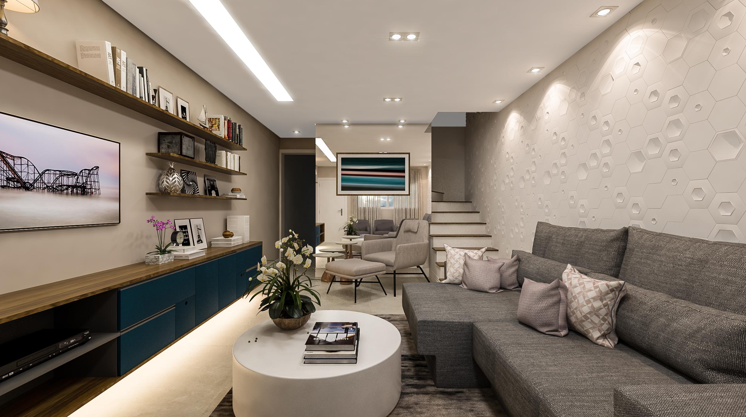 Living  Residência Persio de Azevedo - Penha - 140 m2  Projeto: Madi Arquitetura & Design  Imagem: Érica Alfieri