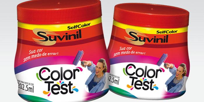 Foto 02: Color Test da Suvinil  Fonte: Arquivo Pessoal