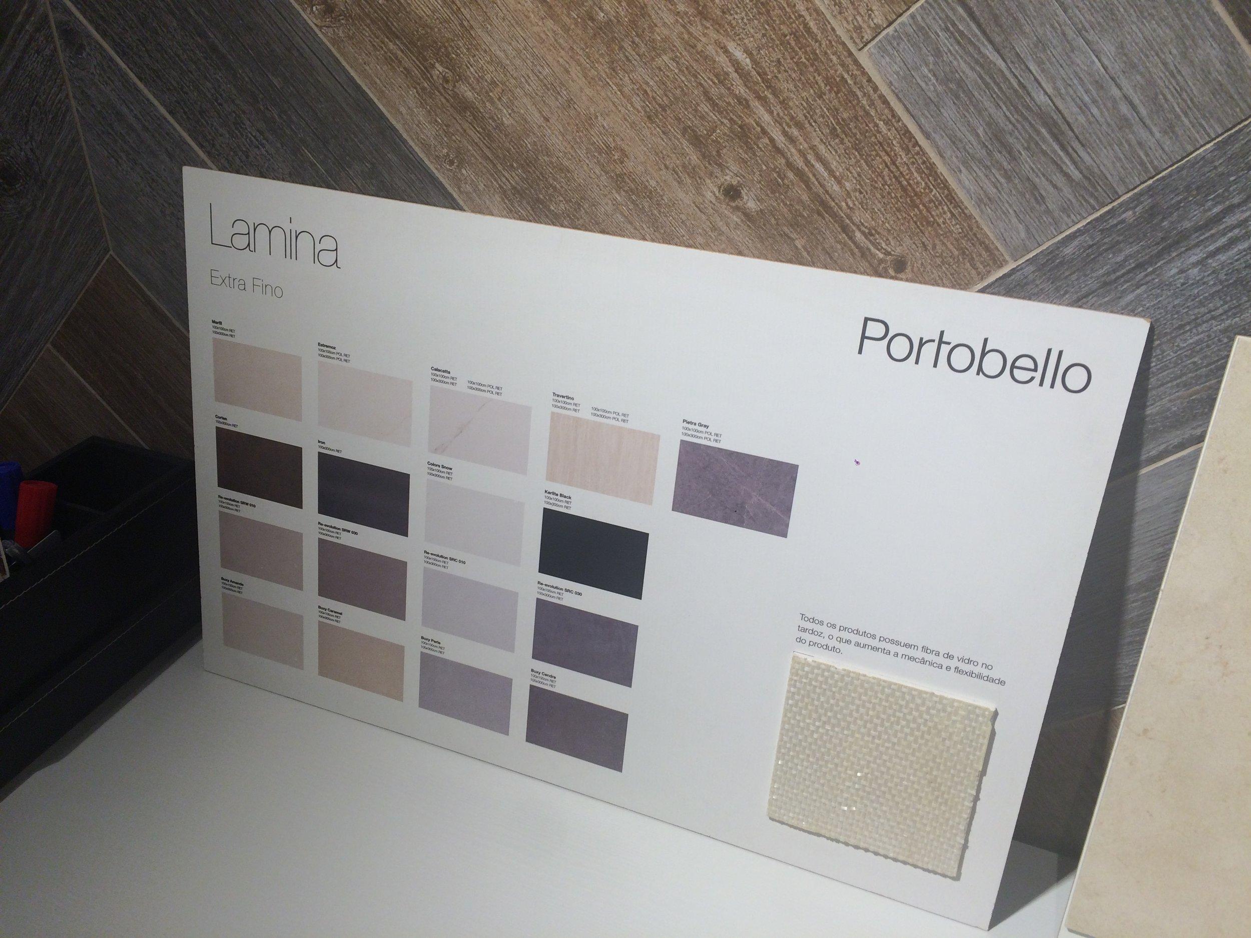 Foto 03: Catálogo do revestimento Lâmina - Portobello Shop  Fonte: Arquivo Madi Arquitetura & Design