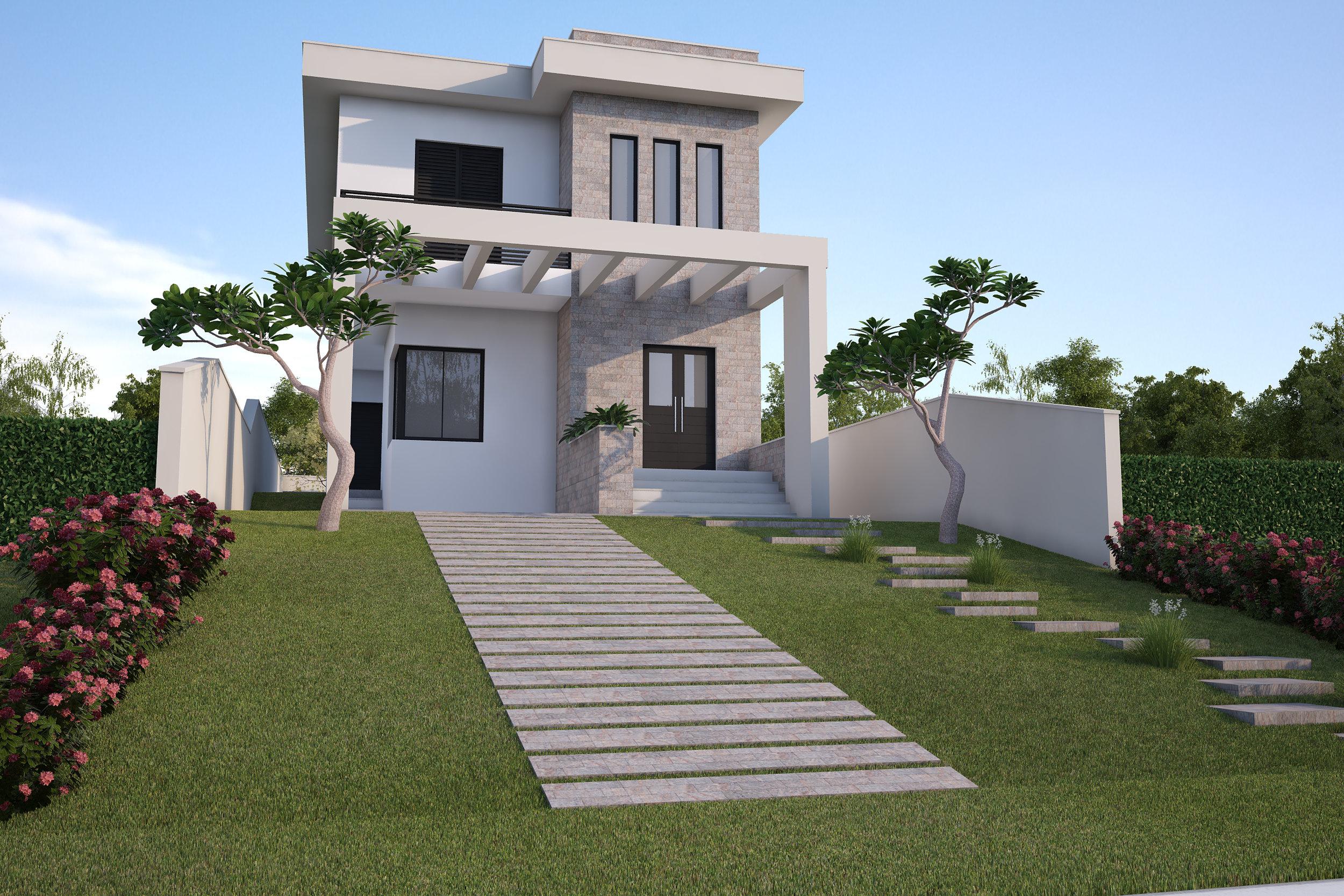 Elevação Principal  Residência Itaí - Itaí / SP - 140 m2  Projeto: Madi Arquitetura & Design  Imagem: Hugo Alexandre
