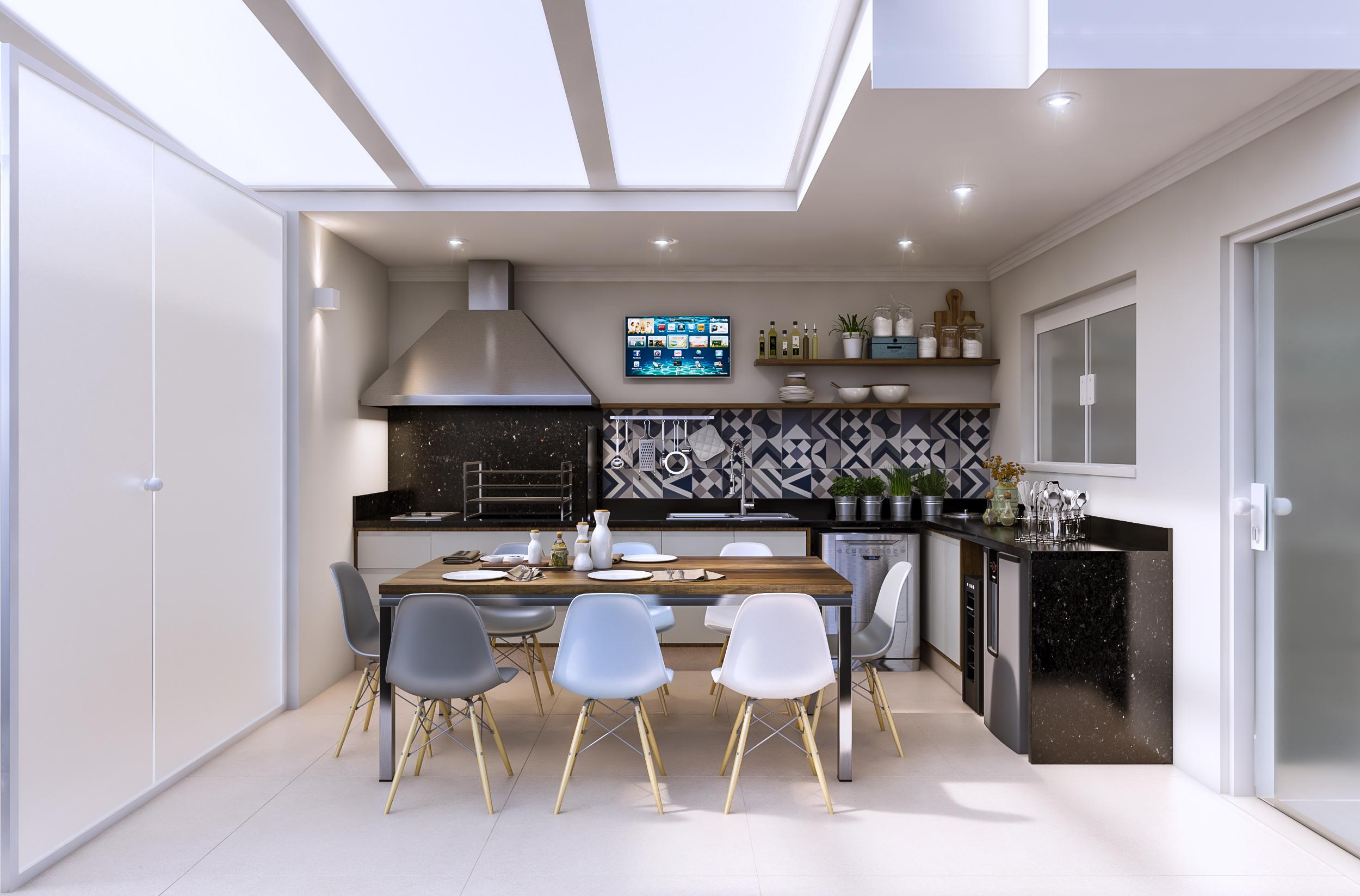 Area Gourmet  Residência Persio de Azevedo - Penha / SP - 140 m2  Projeto: Madi Arquitetura & Design  Imagem: Érica Alfieri