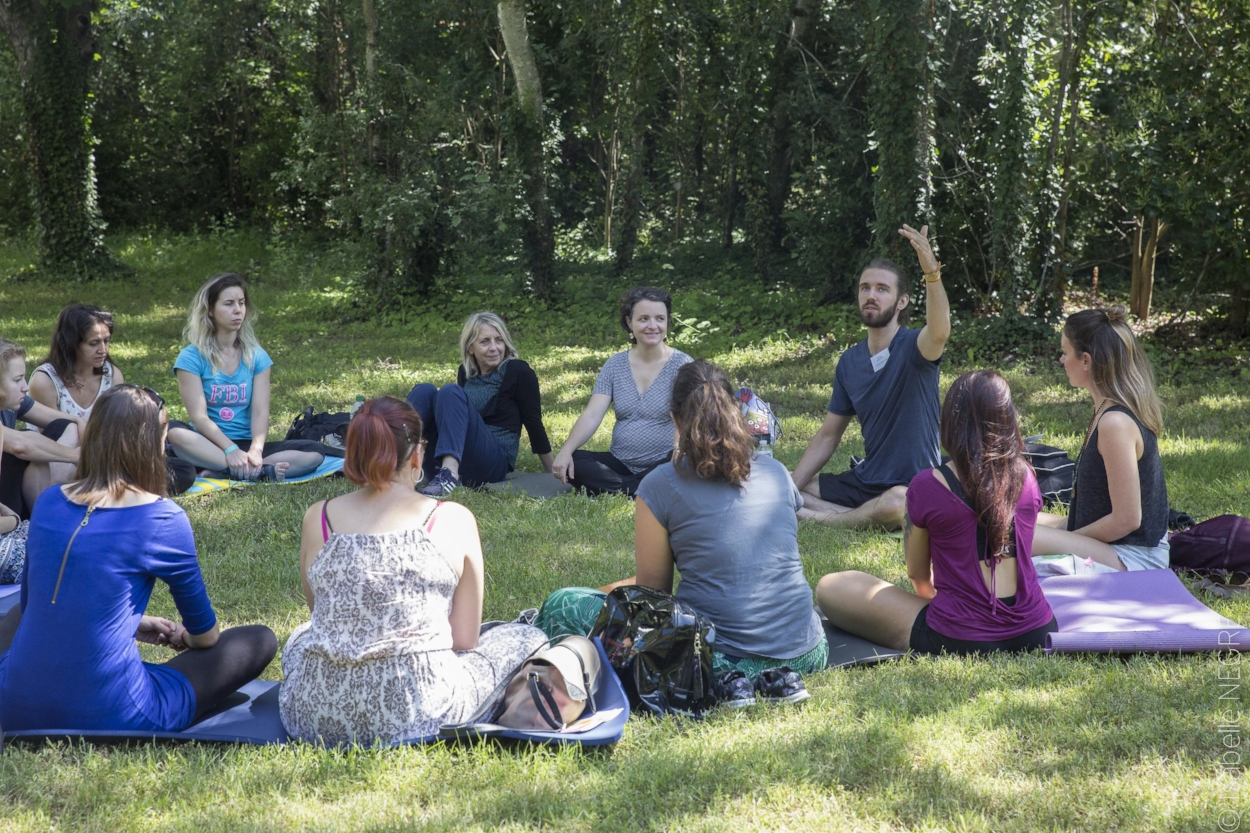 Ben teaching a meditation class at Couleurs Yoga Festival, Avignon, Summer 2018