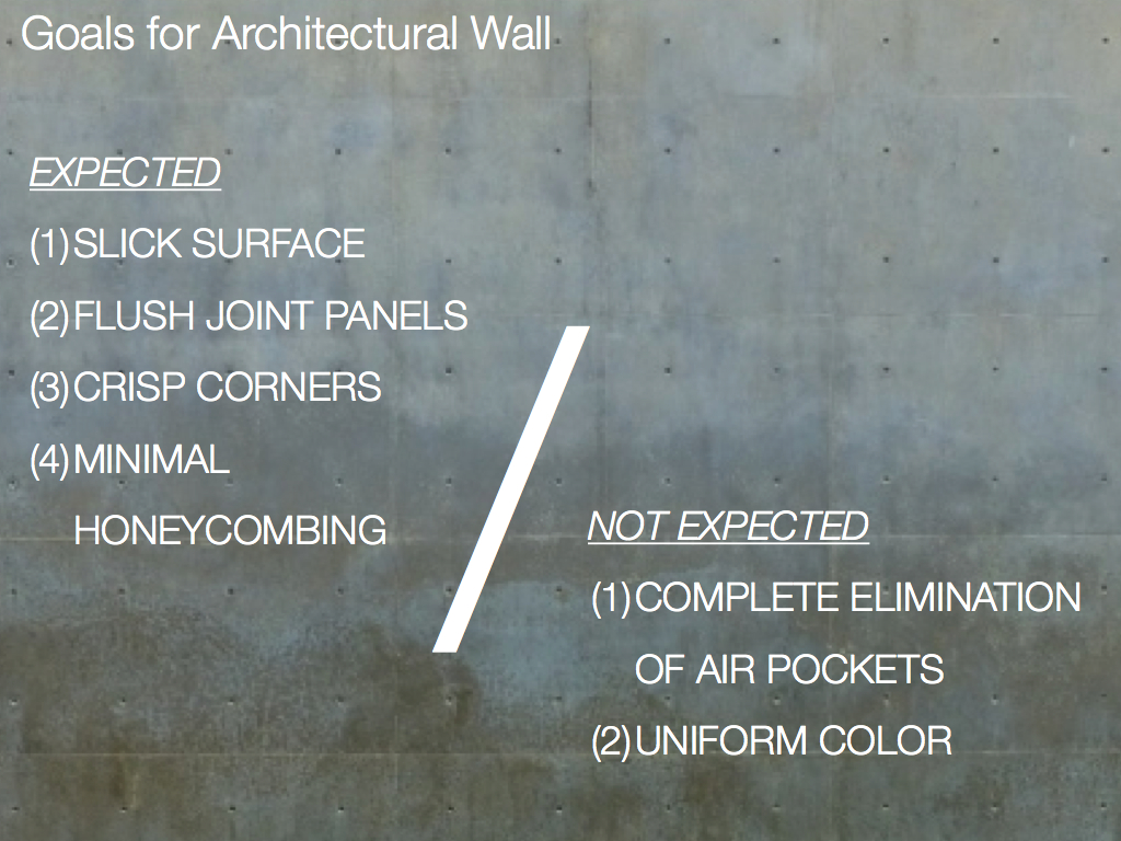 expectations for concrete wall finish