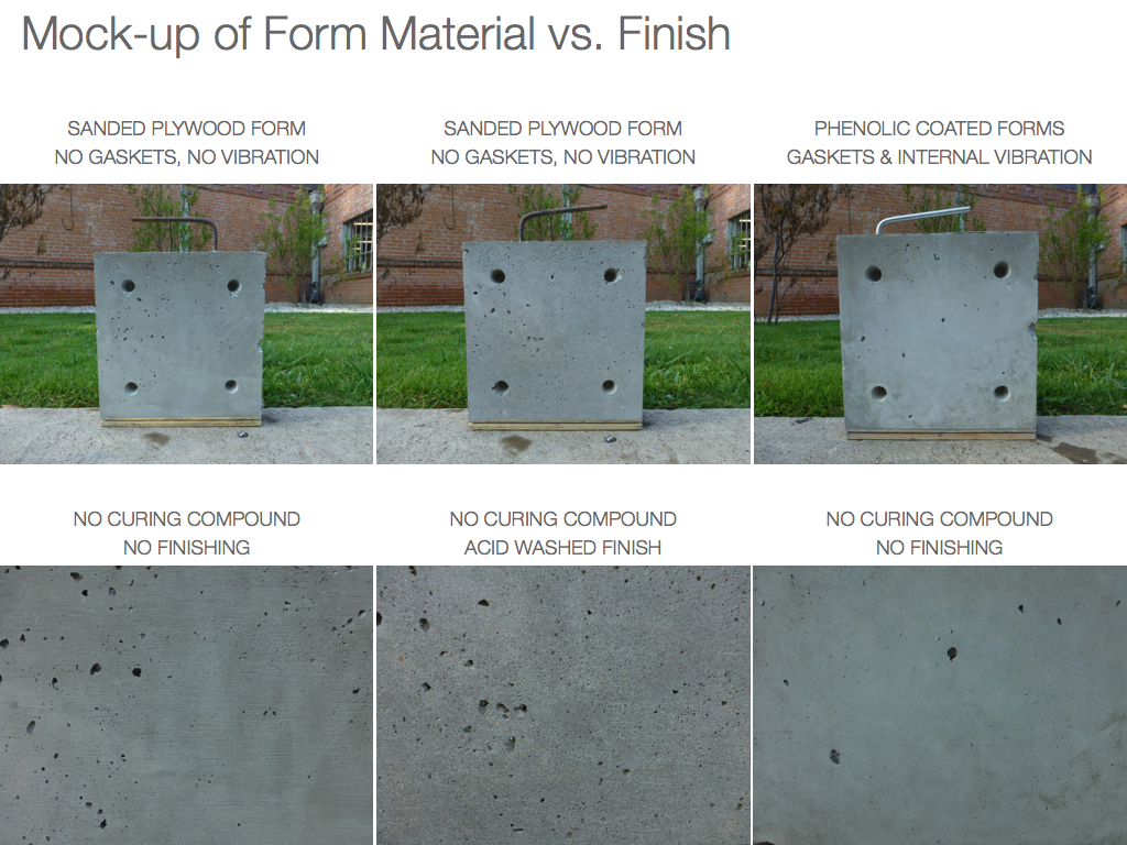 Cast-in-place smooth architectural concrete walls In the