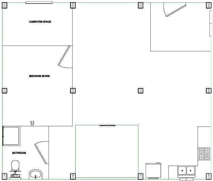 Sample first floor plan