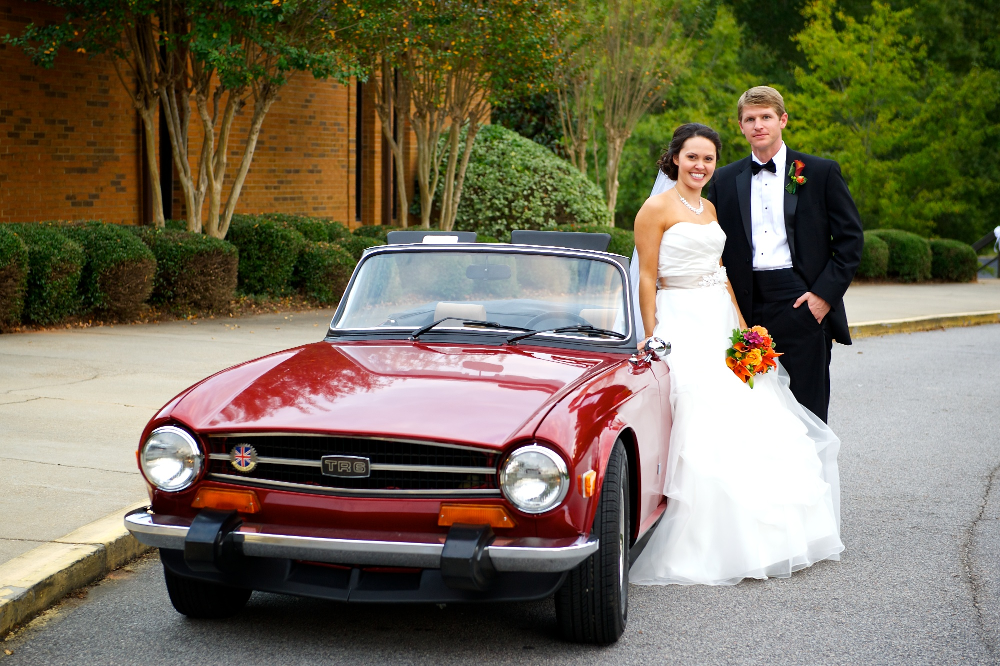 Lindsay and Brain's Wedding at cornerstone presbyterian church and Saluda Shoals