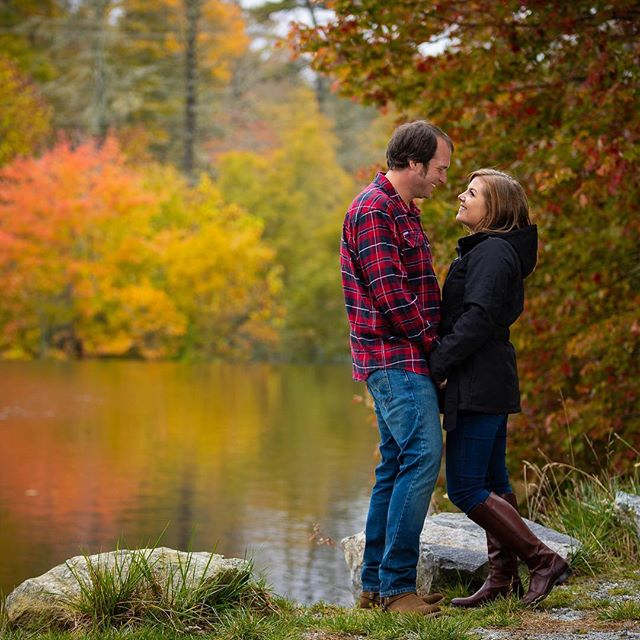 Really loving the #fall engagement season. So much fun getting to head out the #mountains to do this beautiful session.