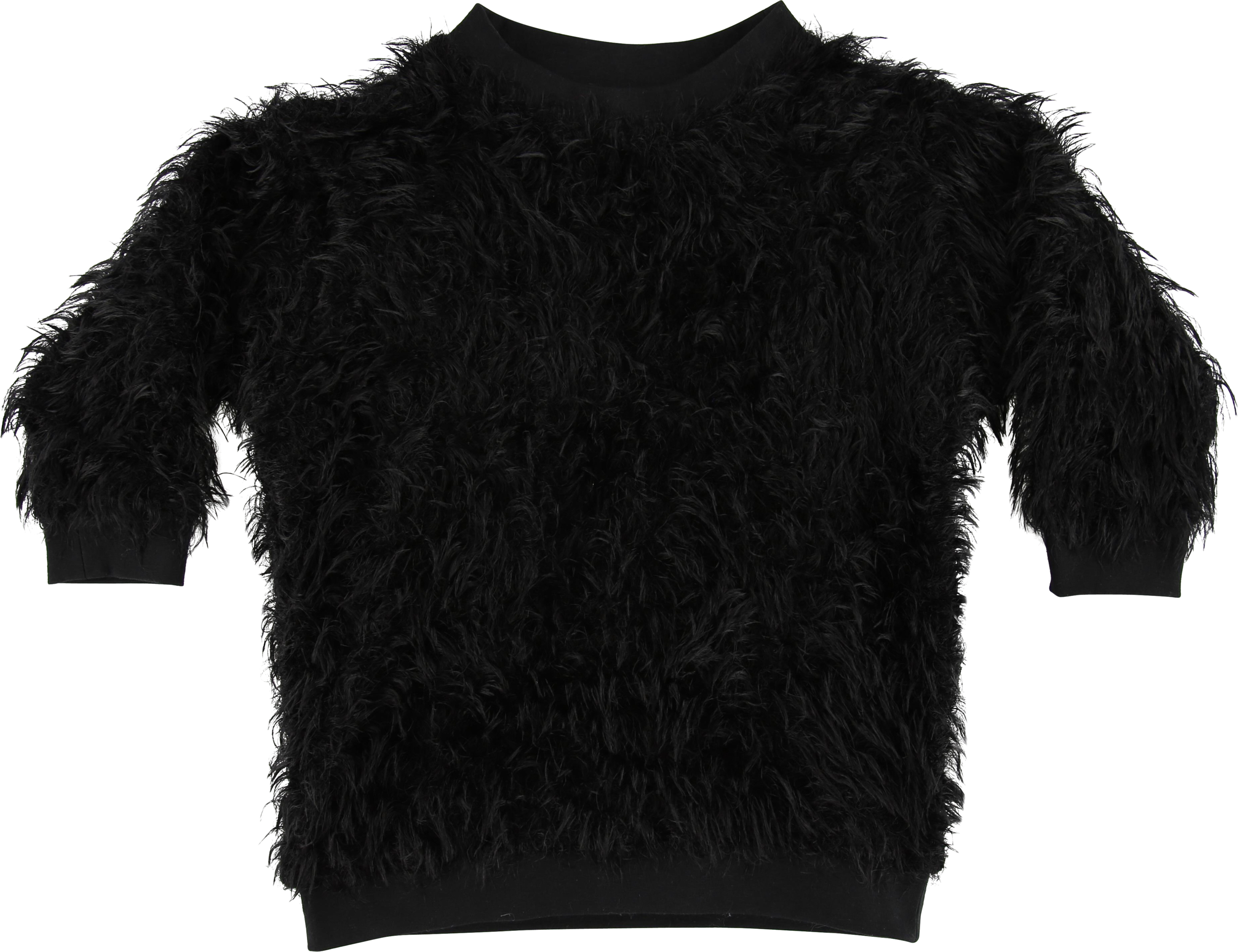 MODEL | 107  STYLE | 11 WOOLY BLACK  hairy oversized sweater 52% pa - 46% pc - 2% ea