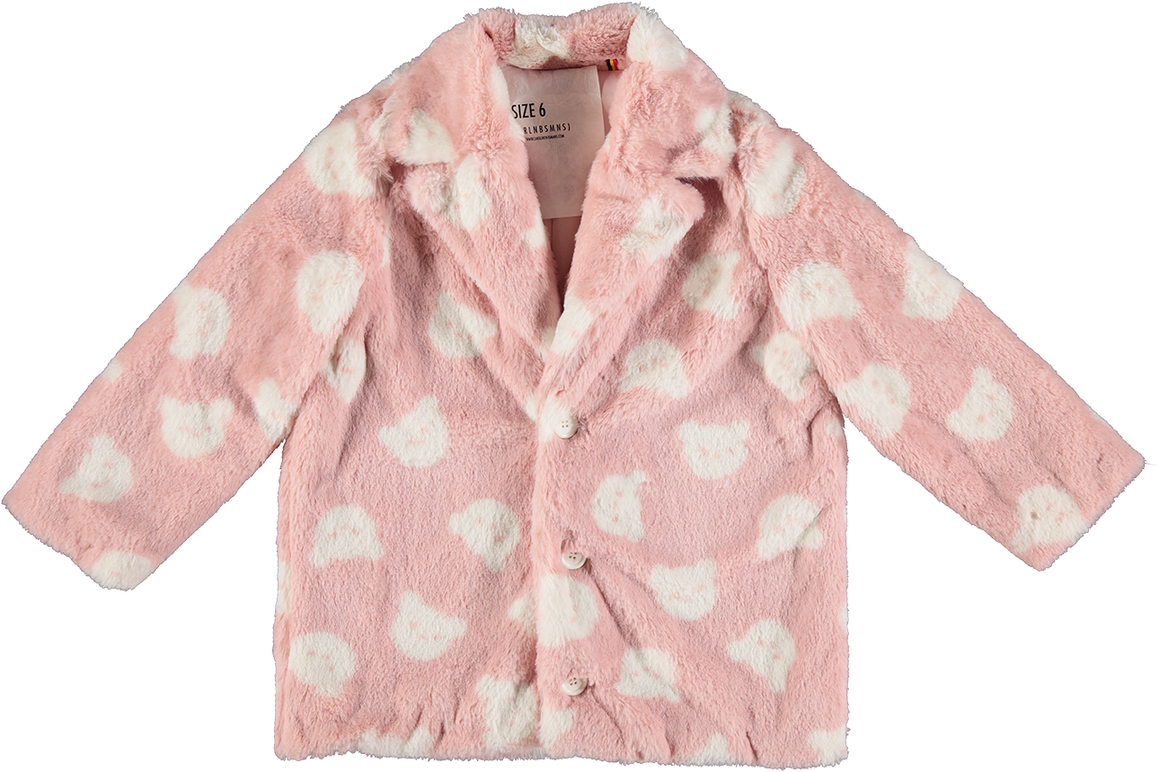 MODEL | 531  STYLE | 3 TEDDY PINK  fake fur jacket