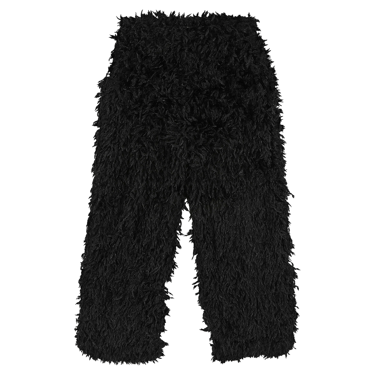 MODEL | 242 STYLE | 10 FRILL BLACK track pants straight fit very lightweight all over feathered fabric loosely woven summer proof