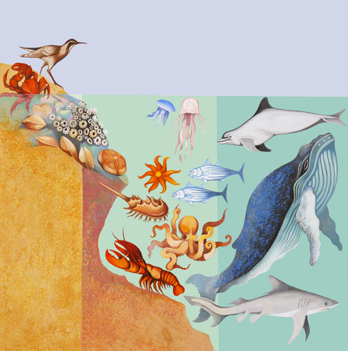 Text Art:  Ocean Zones   NFS