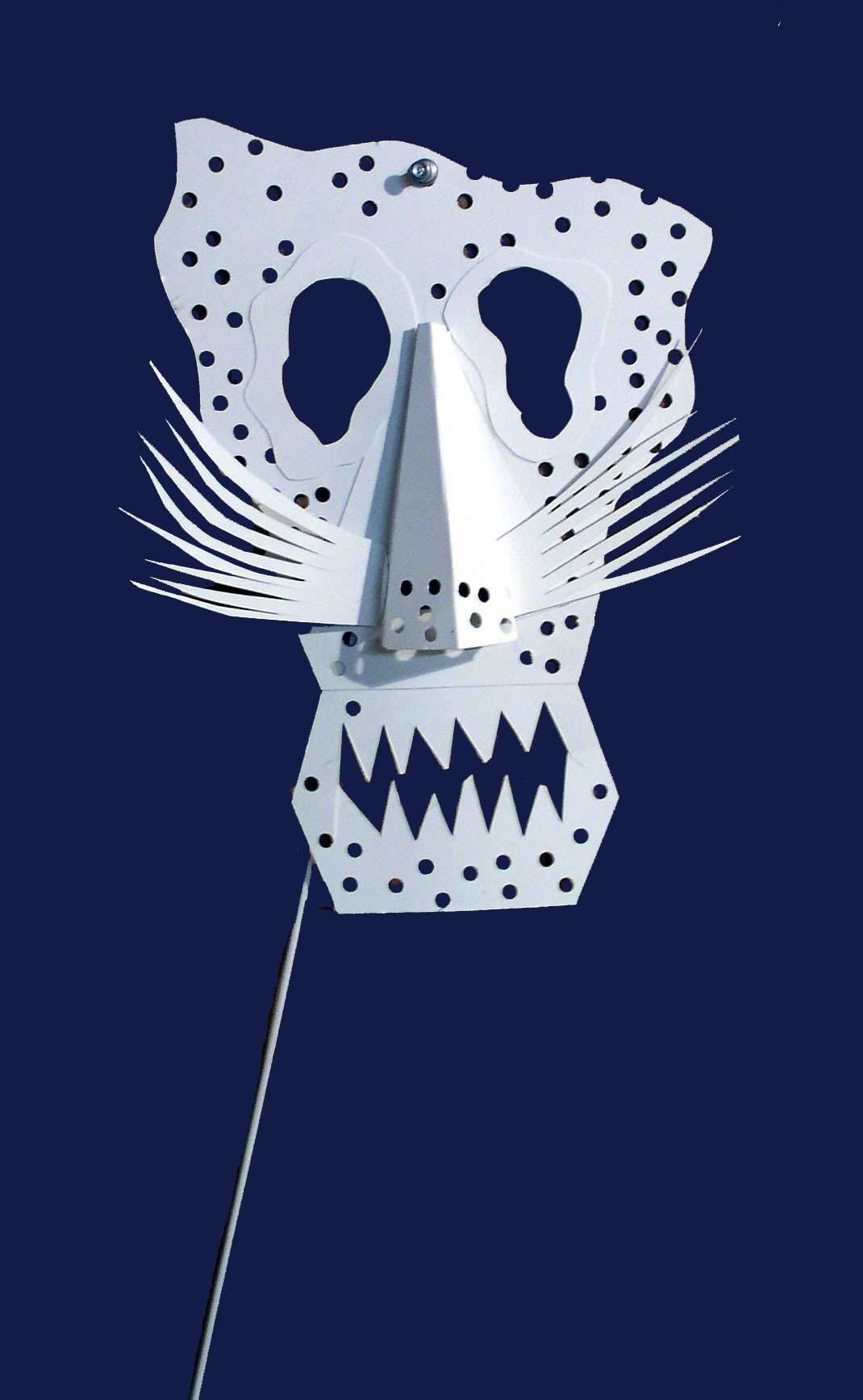 Mask: For Montclair Museum, Montclair , NJ fundraiser  White oak tag