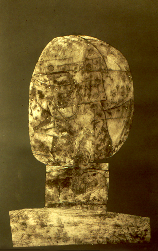 """Head and Shoulders   collagraph, 20"""" x 13.5""""  collection of the artist"""