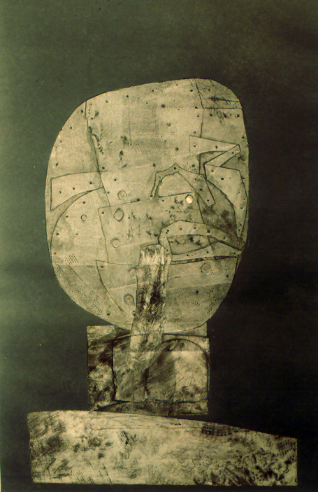 """Head and Shoulders  #2 collagraph, 20"""" x 13.5""""  private collection"""