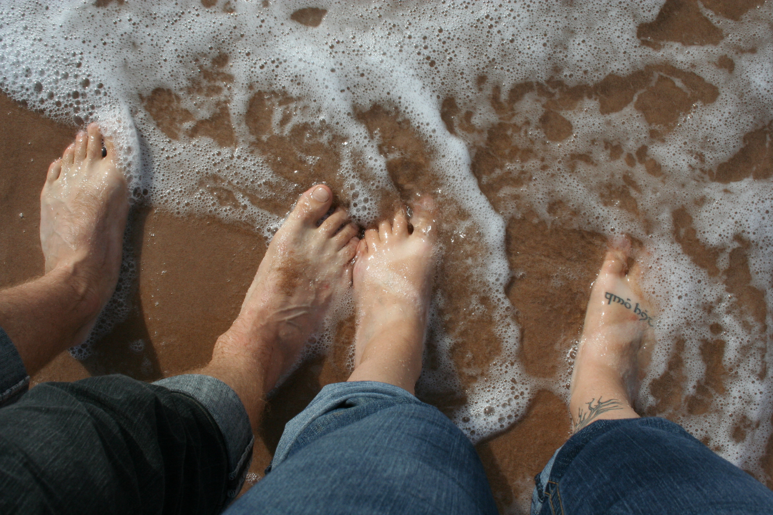 Dipping your toes in the Atlantic Ocean off P.E.I. is a good way to escape the heat!