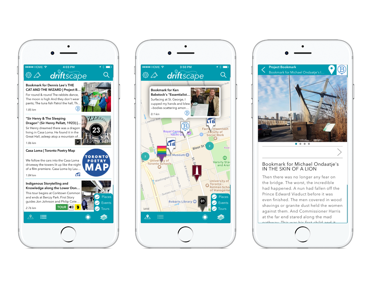 Driftscape  is a new, local discovery app.