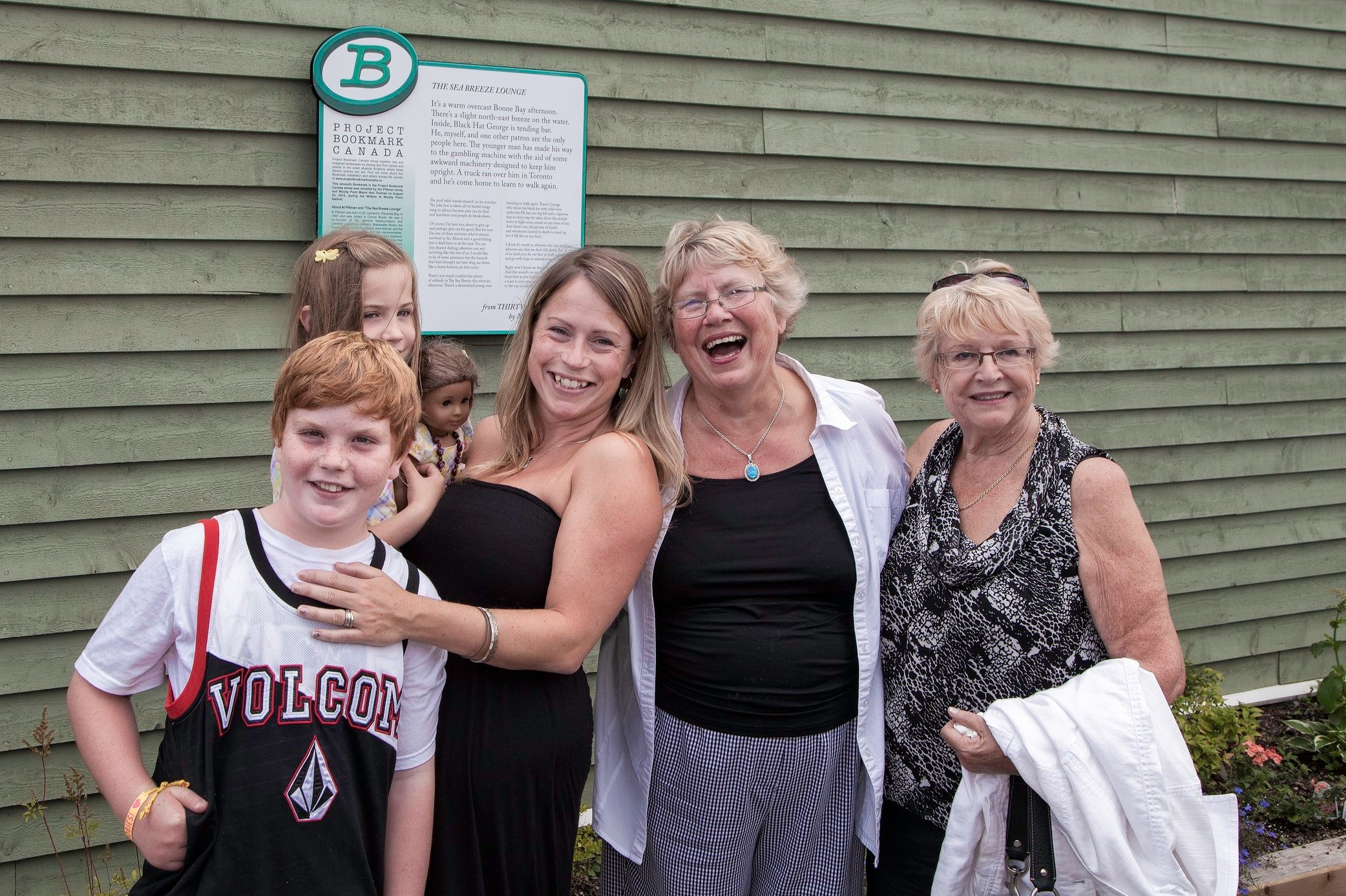 "The family of poet Al Pittman at his Bookmark in Woody Point, Newfoundland — ""The Seabreeze Lounge"" — the first Bookmark outside Ontario."