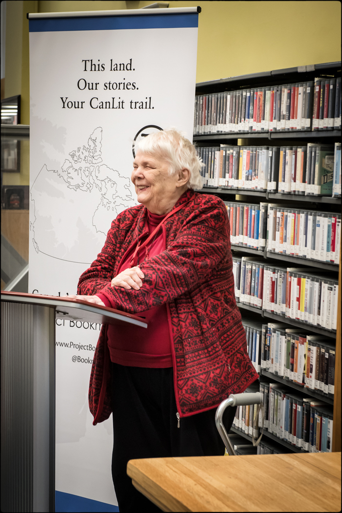 Jean Little at the Yorkville Library, December 8, 2019.