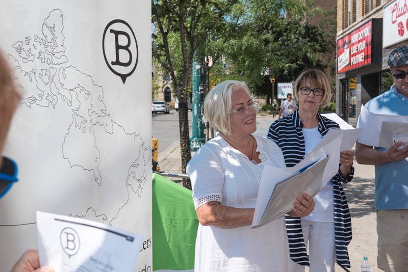 Laurie Murphy, Executive Director, reads the poem, August 16, 2019.