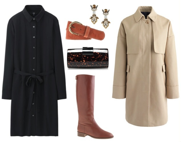 shirt dress trench and boots.jpg