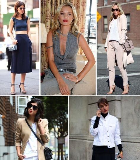 photo credits: top left -  Harper's Bazaar ; top center - P opSugar ; top right -  Brooklyn Blonde ; bottom right -  Harper's Bazaar ; bottom left -  This Time Tomorrow