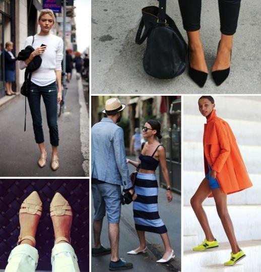 photo credits: top left -  Harper's Bazaar ; top right -  Sarah Elizabeth Pinterest page ; bottom right -  J. Crew ; bottom middle -  The Sartorialist ; bottom left -  Cara Von Brocklin Pinterest Page