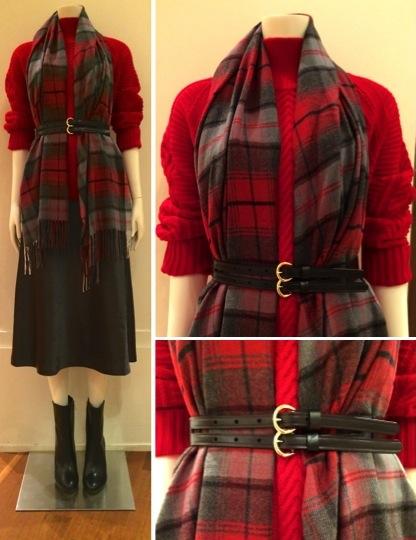 metallic skirt scarf
