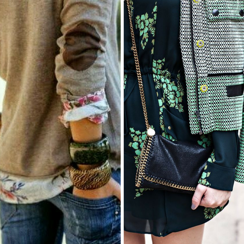 The shades of tweed and floral are up to you - you can go with earth toned neutrals, or base your look in deep navy or black. The easiest way is to coordinate is to go for separate pieces that are based in similar colors for a can't-miss combo.