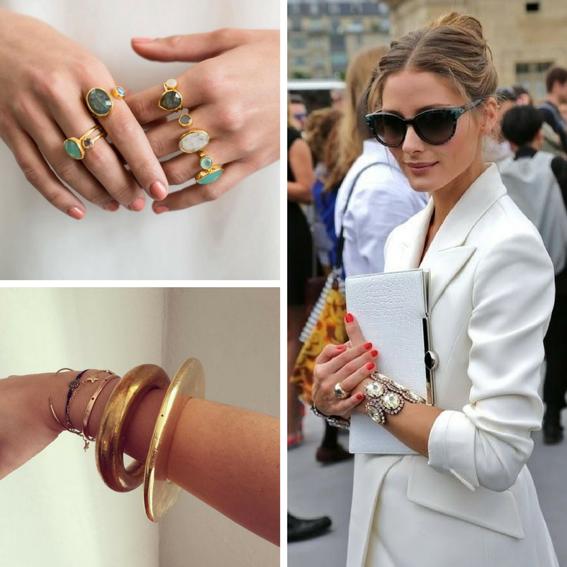 Rings and bracelets are often overlooked as a way to define your style, but they can be super impactful.   Photos from  Waffles and Honey ,  Oh Palermo ,  Joanna Williams Instagram