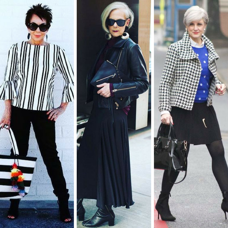 Photos from  Senior Style Bible ,  Who What Wear ,  Style at a Certain Age