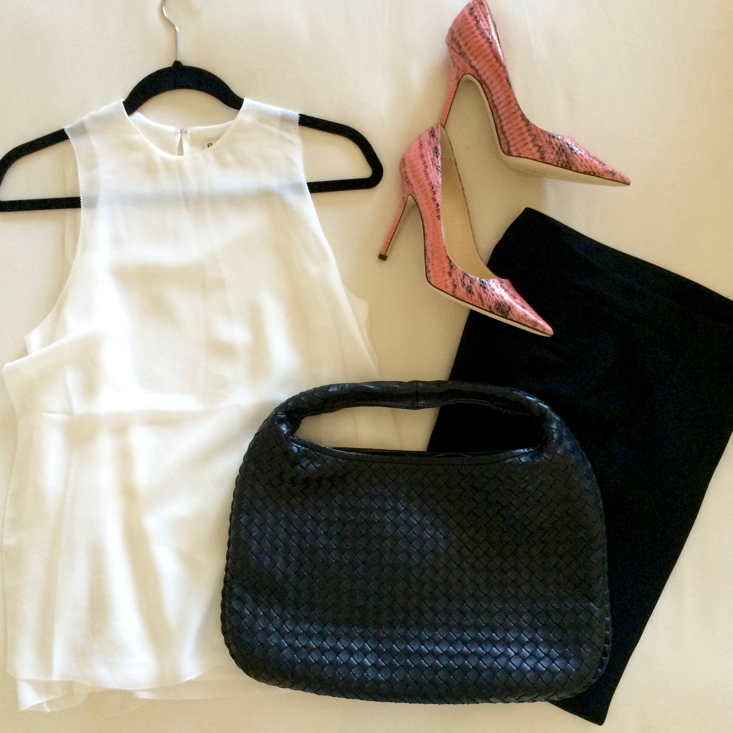 snake print heels and white blouse.jpg